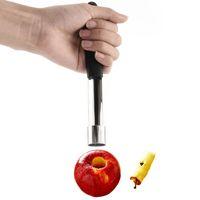 birnenkerne großhandel-Apple Corer Edelstahl-Frucht-Birnen-Corers-Samen-Remover-Pitter-einfacher Torsions-Küchen-Corer Freies Verschiffen