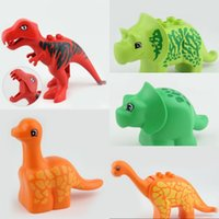 Wholesale plastic dinosaurs large - Large Particles Dinosaur Shaped Tropical Swaps Blocks Children Puzzle Intelligence Toys Spare Parts Product Hot Sale 5 8gy W