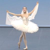 erwachsene schwan kostüm großhandel-Ballett Tutu Kind schwarz weiß Schwan professionelle Ballett Tutu Frau Erwachsene professionelle Kostüm Mädchen