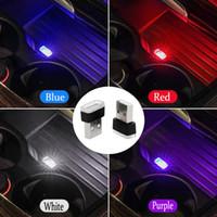 Wholesale car el - Car Styling Cup Holder storage box light USB Decorative For Mercedes Benz w203 w204 W205 w211 w124 w210 W213 W212 GLA CLA Class Accessories
