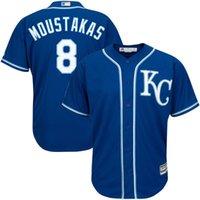 mike moustakas jersey al por mayor-2018 New Women's Men's Kansas City Royals Mike Moustakas Jersey