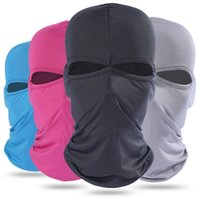 Wholesale sun protection masks resale online - Summer Breathable Quick Drying Full Face Mask Headgear Outdoor Sports Protective Balaclava Headgear Sun protection Windproof Free DHL H689F