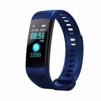 os relógios vibram venda por atacado-Y5 Relógio Inteligente Banda Inteligente Pressão Arterial em Tempo Real Monitor de Freqüência Cardíaca Pedômetro Relógio Despertador de Vibração