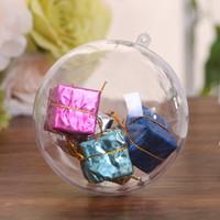 ingrosso grandi sfere di natale di plastica-10pcs grandi decorazioni di Natale palla trasparente può aprire la plastica di Natale trasparente bagattella ornamento regalo presente forniture per feste