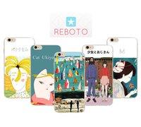japón apple iphone al por mayor-Funda para iPhone 7 7P Estilo japense Japense Patrón ultrafino de dibujos animados Cubierta suave del teléfono de TPU Para iPhone X 8 Plus 8p 6 6s 6p
