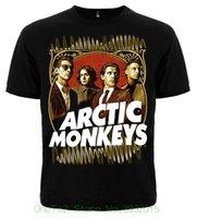 monos de roca al por mayor-Divertidos Tops de Impresión Hombres Rock Metal punk Band Arctic Monkeys Am Hombres 'S Mujeres' s Unisex Camiseta Tamaño Xxl