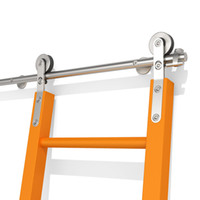 KINMADE Sliding Hardware Rolling Library Ladder Kit Stainless Steel Round Tube 3.3ft 6.6ft 9.9ft