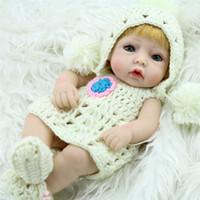 ingrosso nuove bambole reali-Nuovi bambini Baby Real Dolls fatti a mano Real Looking Newborn Baby Girl Silicone Realistico Simulazione Reborn Doll Bambini giocattoli padre-figlio Regali