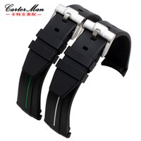 ремешок для часов 21 мм оптовых-Hight quality for  16610 rubber watch band straps with stainless steel buckle 20mm 21mm waterproof sports men's watchband