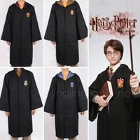 Wholesale teenage wholesale clothes - Adult Kids Potter Gryffindor Cloak Robe Women Men Hufflepuff Ravenclaw Slytherin Clothing For Harries Halloween Costume Cosplay DDA600