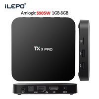 Wholesale Hd Video Movies - S905W Smart TV Box Android 7.1 4K Box TV TX3 Pro Support Lan WiFi 4K video 3D movies CODI fully loaded