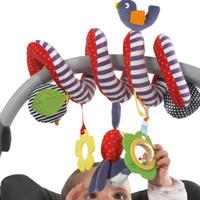 ingrosso ruotava intorno-All'ingrosso-New Infant Toys Baby Crib ruota intorno al letto Passeggino che gioca Toy Crib Tornio Hanging Baby Sonagli Mobile