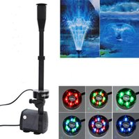 Wholesale submersible water pump aquarium resale online - 40w l H Fish Pond Aquarium Submersible Water Pump Fountain Maker Garden Decoration Fountain Pump With Led Color Changing
