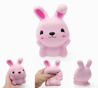 Wholesale bunny rubber online - Squishy Cute Bunny Rabbit Scented Slow Rising Rabbit Soft Squeeze Simulation Collection Anti stress Easter Gifts DDA211