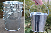 Wholesale Metal Garden Flowers - Hot Mini Tinplate Metal Bucket Icing French Fries Tin Pails Candy Basket Party garden Supplies