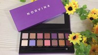 Wholesale e packet - 2018 NORVINA Eye Shadow Makeup NORVINA eyeshadow palette 14 Colors 1pc by e packet