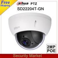 Wholesale mini ptz dome ip camera - Original Dahua DH-SD22204T-GN CCTV IP camera 2 Megapixel Full HD Network Mini PTZ Dome 4x optical zoom POE Camera SD22204T-GN