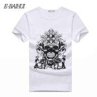 Wholesale men new swag style clothes online – oversize New Summer Style Cotton Men Clothing Male Skull T Shirt Man T shirts Casual T Shirts Swag Mens Tops Tees T001
