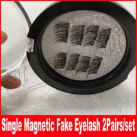 Wholesale eyelash extension single - Single Magnetic Eye Lashes 3D Mink Reusable False Magnet Eyelashes Extension 3d eyelash extensions magnetic eyelashes makeup