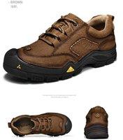 ingrosso scarpe di marca autentiche-Stivali da motociclista di marca autentici da uomo Stivali da 6 pollici casuali di alta qualità Impermeabili da esterno 10061 Stivali di nubuck di grano taglia 36-47
