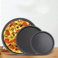 Wholesale Pizza Pans - Non Stick Pizza Bakeware Round Carbon Steel Pizza Plate Baking Tool Easy To Clean 3 4am C R
