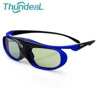 3d gözlük 144hz toptan satış-Optoma Acer Viewsonic JmGO XGIMI 3D Gözlük için Thundeal DLP Projektör 3D Gözlük Aktif Shutter Pil Evrensel 96-144Hz