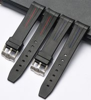 Wholesale watchband 21mm resale online - EACHE New Silicone Rubber Watch Band Watch Straps Waterproof Watchband mm mm