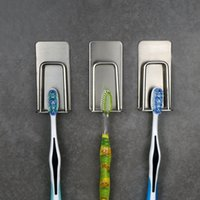 ingrosso autoadesivo inossidabile-Portabicchiere in acciaio inox Portabicchieri a parete per bagno Organizer Rack per rack No Trace Sticker Aspiratore per bagno