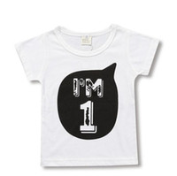 Baby Boy Girl T Shirts For Children Clothing Summer Clothes Little 1 2 3 4 Years Birthday Outfits Kids Tee Shirt Tops