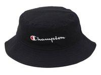 sombrero del cubo de caza al por mayor-Envío gratis Champion Bucket Hat para hombres mujeres gorras plegables negro pescador playa visera venta camping pesca caza