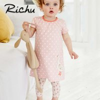 Wholesale Girls Dresses Wholesale China - Richu DOT summer dresses for girls 6 years christmas costumes for kids animals baby girl clothes dresses baby clothing Made In China