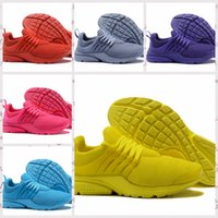 Wholesale bright color shoes - New 2017 Prestos 5 Running Shoes Men Women Presto Ultra BR QS Bright color Yellow Pink Oreo Outdoor Fashion Jogging Sports Sneakers