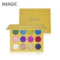 Wholesale rainbow makeup palette for sale - Group buy IMAGIC Pro Pressed Glitter Powder Eyeshadow Pallete Long Lasting Diamond Rainbow Eye shadow Palette Beauty Makeup Cosmetics Tool