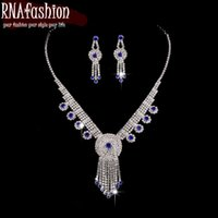 корейские ювелирные наборы оптовых-New Korean Fashion Necklace Earrings Wedding Bridal Jewelry Crystal  Wedding Jewelry Sets