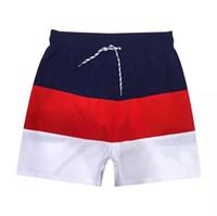 yeni erkek pantolon toptan satış-Toptan yeni Timsah nakış Kurulu Şort Mens Yaz Plaj Şort Pantolon Yüksek Kaliteli Mayo Bermuda Erkek Mektup Sörf Hayat Erkekler Yüzmek