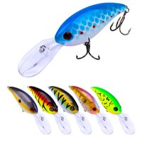 Wholesale 14 color cm g Crank Plastic Hard Baits Lures Fishing Hooks Hook Artificial Bait Pesca Fishing Tackle Accessories