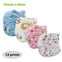 Wholesale ecological diapers resale online - 5PCS Thank u Mom Ecological Baby Diaper Soft Minky Cloth Nappies Reusable PUL Waterproof Cloth Diaper fralda de pano