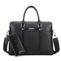 Wholesale leather business briefcase for men for sale - Group buy NEW Black Tote Men s Fashion Male Set Business briefase for Man High Quality Designer Bag PU leather Briefcase