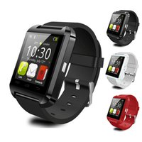 Wholesale bluetooth smart watch sport sms online – U8 Smart Watch Bluetooth smartwatch Sport Watch with Pedometer Message SMS Sync Call Reminder Remote For IOS Android with Retail Package