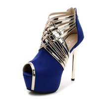 Wholesale shoes big mouth online - CM Big yards size Ultra high The fish s mouth Sexy Zipper High Heels