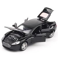 juguetes de metal modelo de coche al por mayor-Alta simulación Aston Martin escala 1:32 de aleación modelo de automóvil diecast vehículos de juguete de metal luz de sonido 6 puertas abiertas multicolor