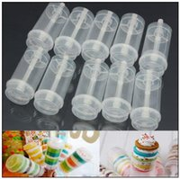 Wholesale old party - Push Up Pop Containers New Plastic Push Up Pop Cake Containers Lids Shooters Wedding Birthday Party Decorations CCA9563 1000pcs