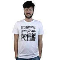 дизайн панк-майка оптовых-Футболка Husker Du, футболка белая, дизайн хардкор панк, альтернативный рок