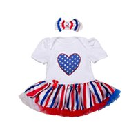 Wholesale 4th of july romper for sale - Group buy New Arrival Baby Girls Romper Toddler th of July Independence Romper with Headband Fashion Newborn Clothes
