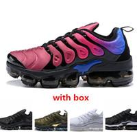 Wholesale Khaki Cargos - TN2018 PLUS TN ULTRA Cargo Khaki triple white Barely Grey Running Shoes tn sneaker sports shoes free shipping