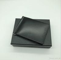en iyi kredi kartı cüzdanı toptan satış-Best Seller erkek Deri Lüks M B Kart Durumda Billfold Klip Siyah Kısa Kredi Kartı Tutucu MT Cep Yüksek Kalite Cüzdan