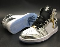 Wholesale white hi tops shoes - Top Quality 1 OG High Pass The Torch Hi Think 16 Basketball Shoes Men 1s Silver White Sports Sneakers New With Shoes Box