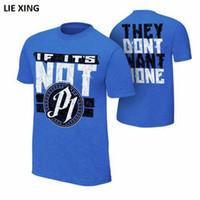 erkek şık gömlekleri toptan satış-2018 Yeni Yaz Tshirt Baskı Güreş AJ DA DZ SCSA SR Seth Stilleri Dokunulmaz Rollins erkek T-Shirt Pamuk