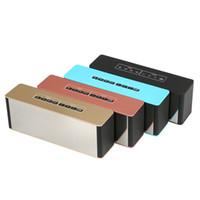 ingrosso bluetooth per il desktop-LP-06 Nuovi subwoofer portatili wireless con mini altoparlante Bluetooth con sveglia a specchio, vivavoce, soundbar, doppio altoparlante stereo desktop