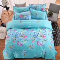 Wholesale camel suits resale online - Fashion Cartoon Striped Plaid Flower Series Bedding Sets Korean Printed Cotton Bedding Kits Suit Duvet Cover Set Bed Sheet Pillowcases